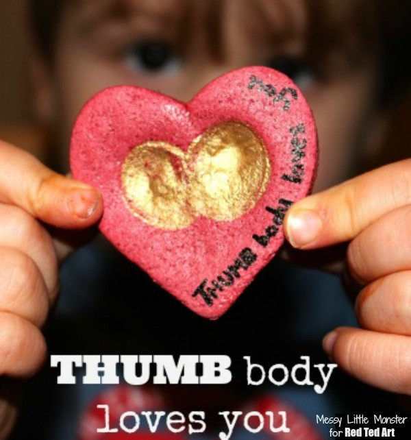 Valentine's Day Gifts - Thumbprint Heart Keepsakes - fun with salt dough