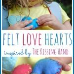 felt love hearts