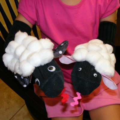 lamb sock puppet craft