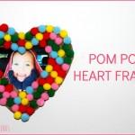 pom pom heart frame- horizontal
