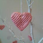 Bubble Wrap Salt Dough Heart Decorations