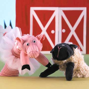 sheep sock puppet craft
