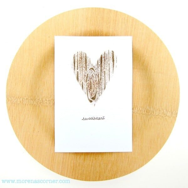 stenciled Valentine