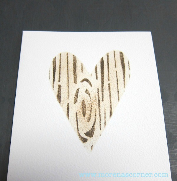 Valentines Cards - Heart stencil