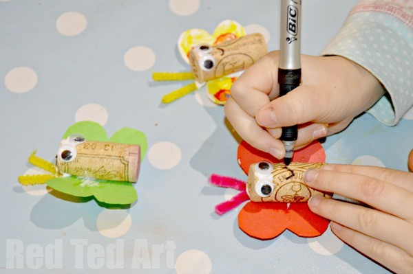 Butterfly Corks - spring crafts for kids