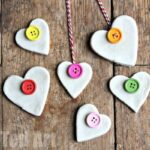 Button Salt Dough Hearts
