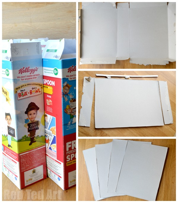 Cereal box pop up dolls house red ted art 39 s blog for What type of cardboard are cereal boxes made of
