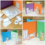 Cereal Box to Foldable Doll's House DIY (perfect take along house)