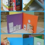 From Cereal Box to Carry Along Dolls House Book - so cute