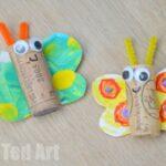 Rainbow Butterfly Cork Crafts