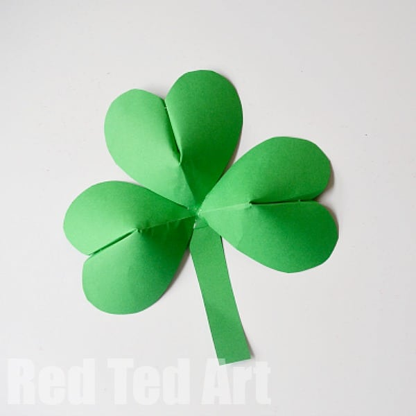 st patricks day crafts 3d paper shamrocks for st s day ted s 5486