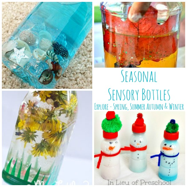 Seasonal Sensory Bottles for Babies and kids