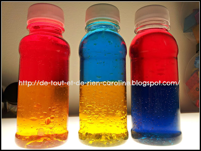 colour mixing discover bottle