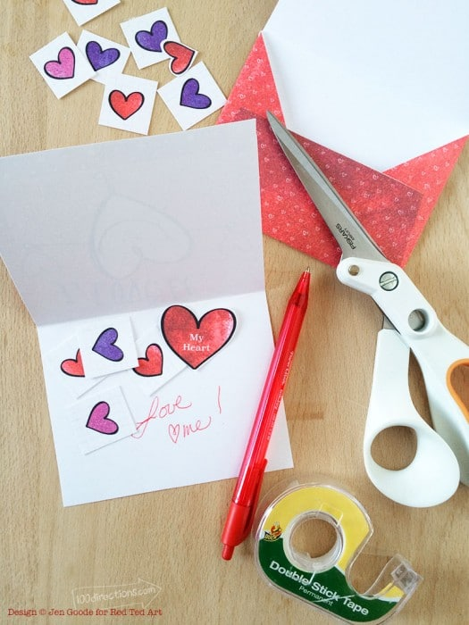 Make Your Own Valentine Card! (Free Printable) - Red Ted Art's Blog