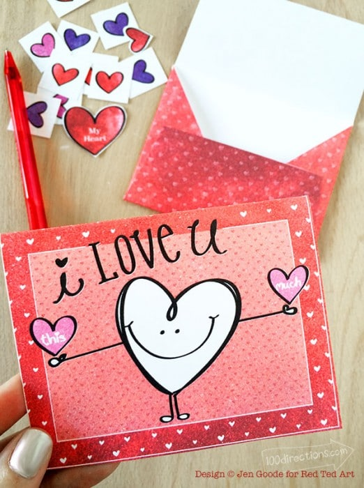 Make Your Own Valentine Card! (Free Printable)