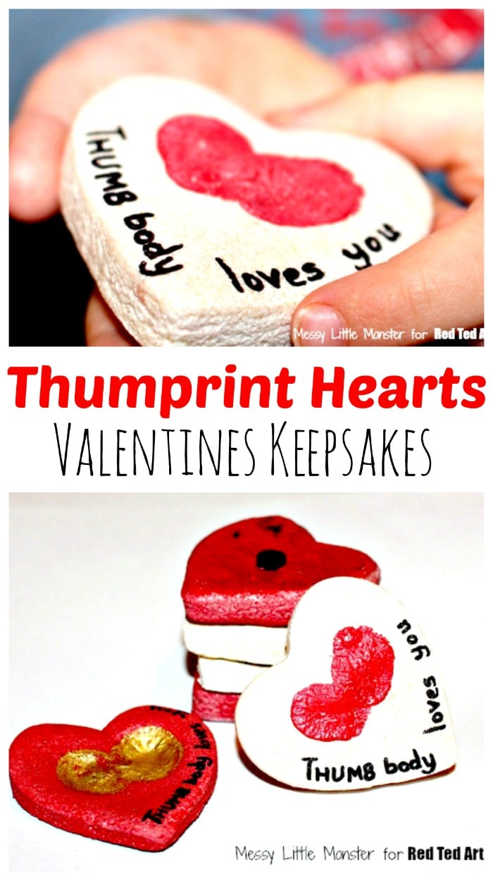 Thumbprint Hearts for Valentine's Day. Gorgeous Valentine's Day Gift for Toddlers to make. The perfect Thumbprint Keepsake. #valentinesday #thumbprints #preschool #toddler #valentinesdaygift