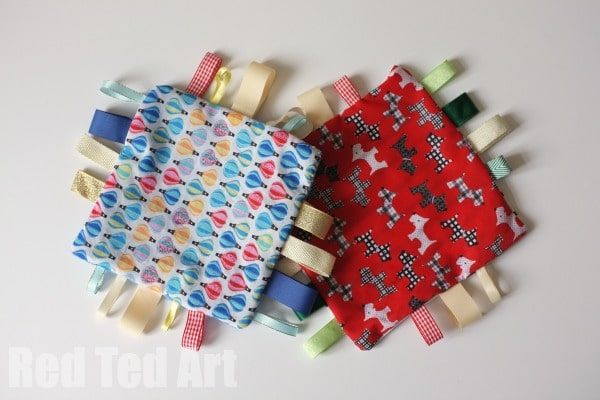 Baby Gifts - How to Make a Ribbon Taggie Blanket