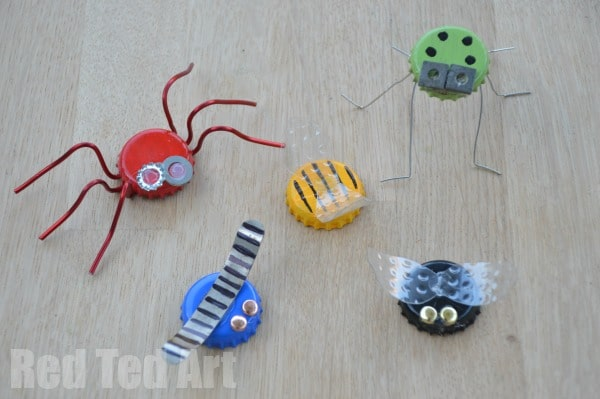 Beer Bottle Top Bugs - Step 3 FINISHED