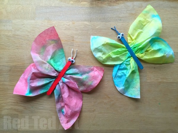 Coffee Filter Butterfly Crafts For Preschoolers Red Ted Art