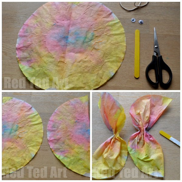 Coffee filter craft for preschoolers and kids red ted for Coffee crafts