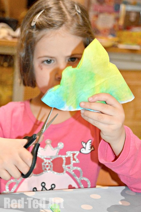 Coffee Filter Crafts - Snowflakes