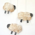 Cute Spring Sheep Craft Mobile for Preschoolers