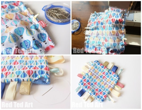 DIY Baby Gifts - Simple Taggies Blanket