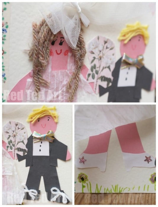 Diy Wedding Card For Kids To Their Teacher Love Is Red Ted