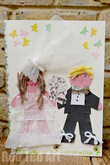 DIY Wedding Card for Kids to their Teacher (Love is…)