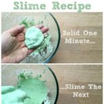 Easy Slime Recipe - cornflour and water