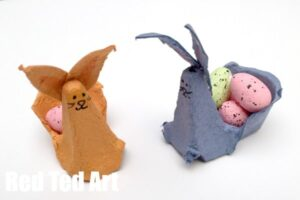 Easy BUNNY CRAFTS: Egg Carton Crafts - Easter Bunny