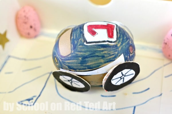 Egg Decorating - Racing Car