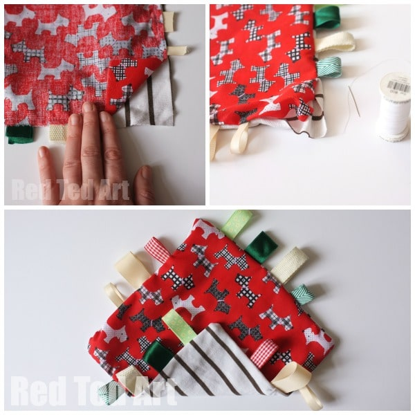 How to Make a Taggie Blanket - DIY Baby Shower Gift Idea