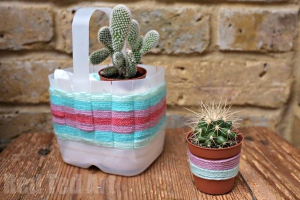 Easter Basket Crafts - Milk Carton Jug Weaving Basket for Easter or Mother's Day