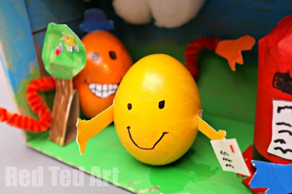 Mr Happy and Mr Tickle Egg Decorating Ideas