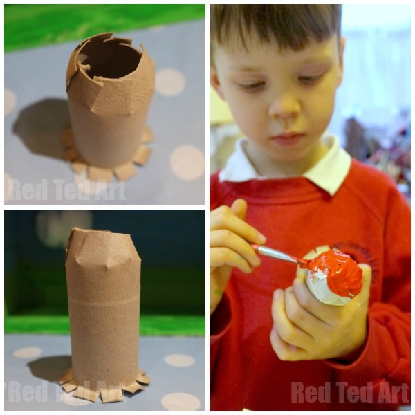 Mr Men Egg Diorama - making the TP Roll Mail Box