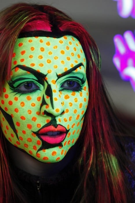15 funny face ideas rednoseday red ted arts blog pop art face painting solutioingenieria Gallery