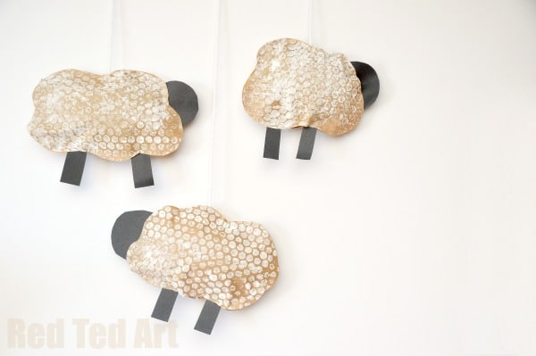 Puffy Sheep Mobile for Toddlers