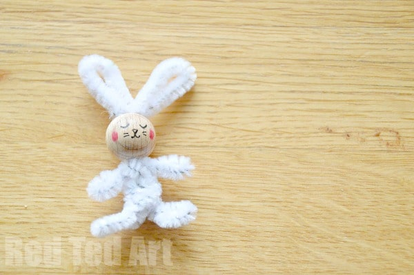 Simple Pipecleaner Bunny Craft for Kids
