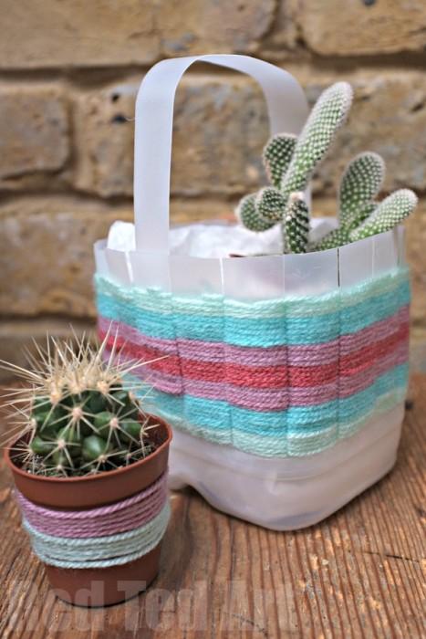 Woven Basket - Upcycle a Milk Carton