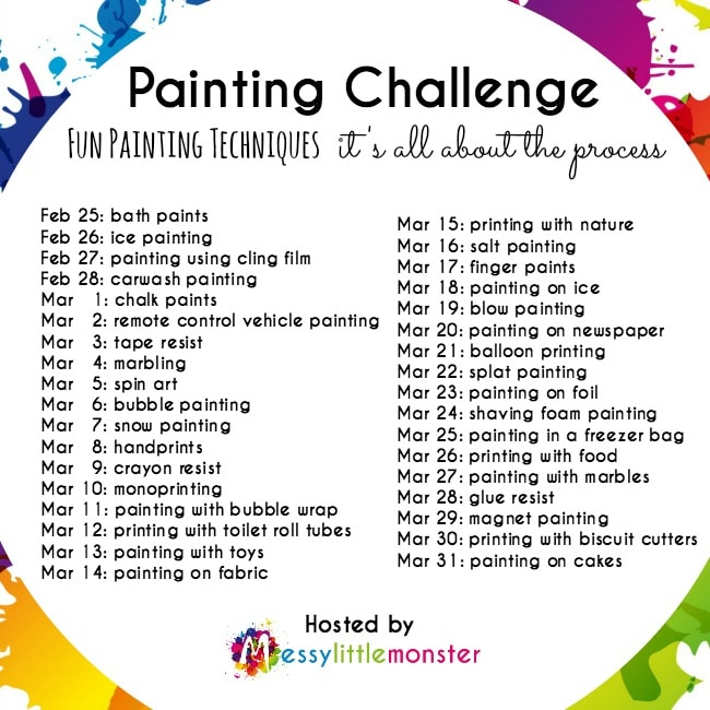painting technique list