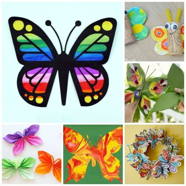 35 Beautiful Butterfly Crafts For Children And Young At Heart See More Ideas About Butterflies
