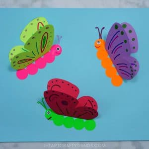 3d Butterfly Crafts. Butterfly Crafts for Preschoolers - great summer crafts for kindergarten and up.. love these adorable Butterfly Activities #butterflies #summer #preschoolers