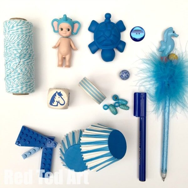 Blue Colour Hunt Activity for Kids