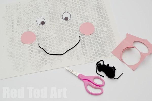 Bubble Wrap Printing - rain cloud face