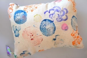 DIY Vegetable Print Pillow