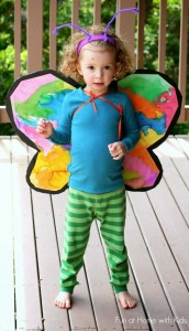 DIY-costumes-butterfly-wings. Butterfly Crafts for Preschoolers - great summer crafts for kindergarten and up.. love these adorable Butterfly Activities #butterflies #summer #preschoolers