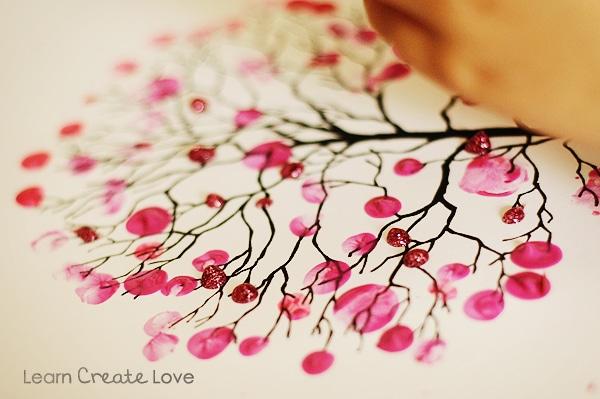 Finger Print Cherry Blossom Tree