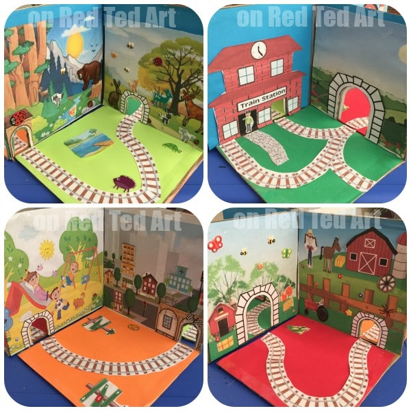 DIY Foldable Take Along Train Set