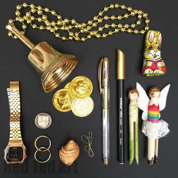 Gold Colour Hunt Activity for Kids